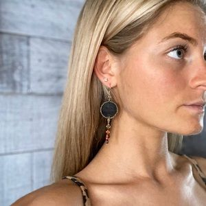 Handmade Multi Color Dangle Earrings
